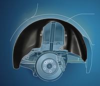 Подкрылки, внутренние защиты колёсных арок Локера, Защиты арок колёс Kia Lexus Lifan Mazda