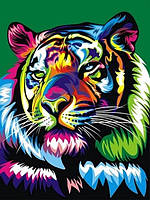 Картины по номерам 30×40 см. Королевский радужный тигр Художник Ваю Ромдони