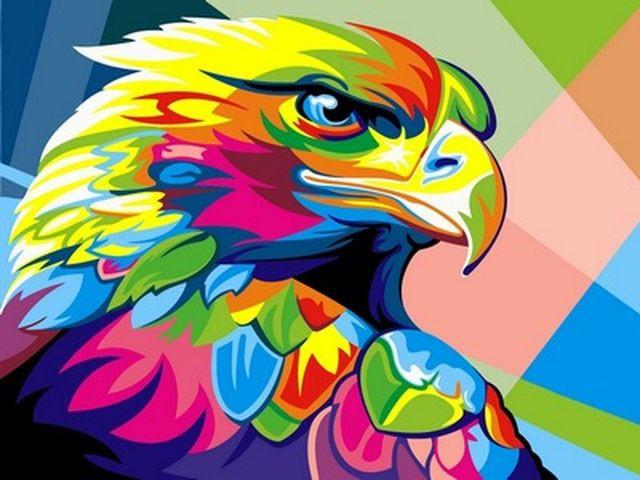 Картины по номерам 30×40 см. Радужный орел Художник Ваю Ромдони, фото 1