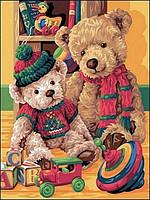 Картины по номерам 30×40 см.  Любимые игрушки
