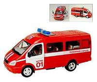 Детская инерционная машинка Joy Toy Маршрутное такси 9098-E