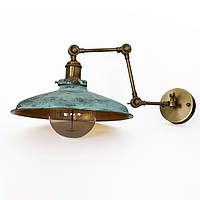 Настенно-потолочный светильник купол Loft Steampunk [ on Wall Ceiling Green Patina ] ( 4-х поворотный )