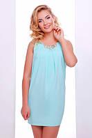 Летнее мини платье мята Фея 42-50 размеры
