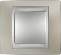 Рамка 1 пост. Unica Top титан/алюминий MGU66.002.095