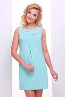 Летнее короткое платье мятное Астра 42-50 размеры