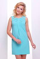 Летнее короткое бирюзовое платье Астра 42-50 размеры