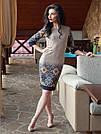 Красивое женское платье с орнаментом