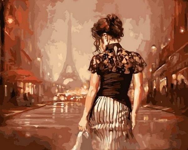 Картины по номерам 40×50 см. Винтажный Париж