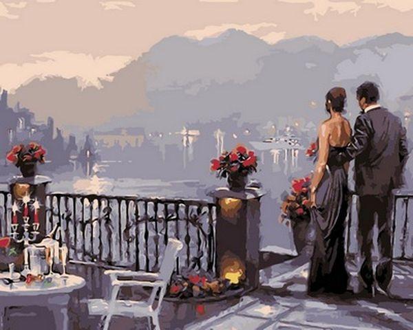 Картины по номерам 40×50 см. Романтический ужин