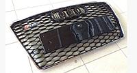 Решетка радиатора RS7 на Audi A7 (черная с хромированной окантовкой)