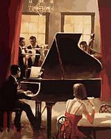 Картины по номерам 40×50 см. Джаз на пианино
