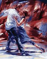Картины по номерам 40×50 см. Страсть в стиле танго , фото 1