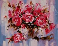 Картины по номерам 40×50 см. Нежные розы