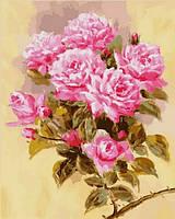 Картины по номерам 40×50 см. Розовая ветвь