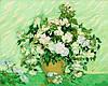 Картины по номерам 40×50 см. Ваза с розами
