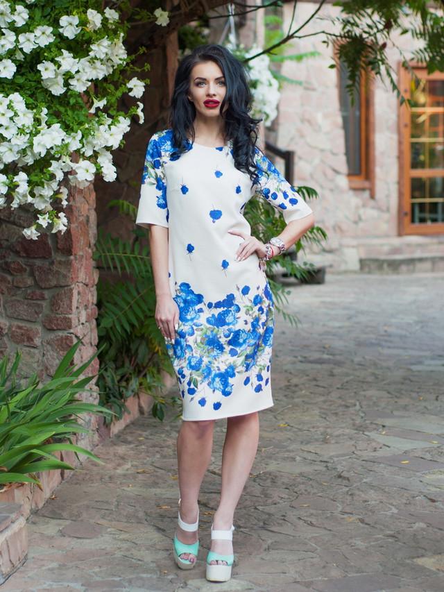стильное платье батальных размеров