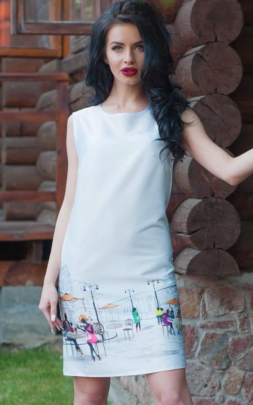 стильный летний белый сарафан
