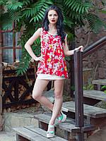 Летнее платье-туника Сакура