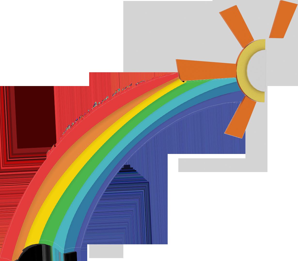картинки с солнцем с радугой