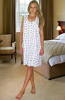 Ночная сорочка Бабушкина майка (Белый с фиолетовым)