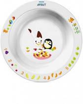 Детская глубокая тарелка Avent с развивающими рисунками от 12 мес