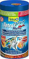 Tetra PRO Menu 250ml - основной корм в виде чипсов для аквариумных рыб