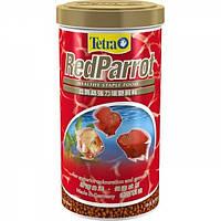 Tetra Red Parrot 1L - корм для аквариумных рыбок красного цвета