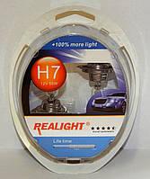 """Автомобильные галогенные лампы """"REALIGHT"""" (H7)(+100%)(12V)(55W), фото 1"""