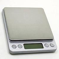 Профессиональные ювелирные весы до 2 кг-шаг 0,1 г (2 чаши)