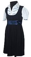 Сарафан школьный синий 116-140