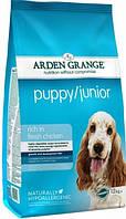 Arden Grange Puppy Junior Корм для щенков и молодых собак с курицей и рисом 12кг