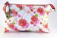 Оригинальная сумка-клатч с цветочным принтом из лакированной эко кожи Б/Н art. 1211