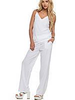 Женский брючный летний костюм | 6115 sk белый