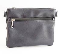 Стильная женская сумка почтальонка с гладкой эко кожи темно синего цвета Б/Н art. T17, фото 1