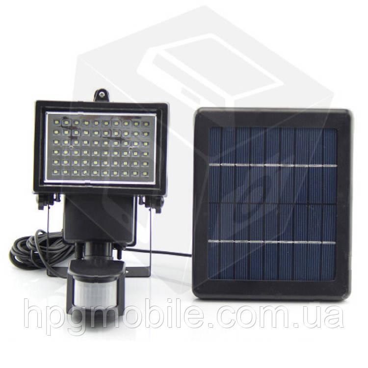 Уличный LED прожектор SL-60, с солнечной панелью, с датчиком движения, 600 лм, 7,4 В, 2000 мАч