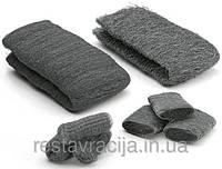 Стальная вата, шерсть 00, Steel Wool, 1 метр, 50-60 грамм, Borma Wachs