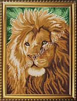 Схема для вышивания бисером Львиный взгляд
