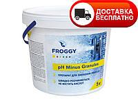 """Препарат для понижения уровня pH """"pH Minus Granules"""" Froggy, 1кг (гранулы)"""