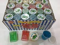 Сопли средние с насекомыми прозрачная банка 4*5см 48 штук в упаковке
