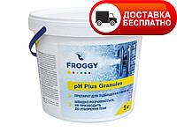 """Препарат для повышения уровня pH """"pH Plus Granules"""" Froggy, 5кг (гранулы)"""