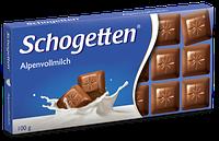 Шоколад Schogеtten «Alpine milk chocolate» Альпийское Молоко (молочний) 100 г, фото 1