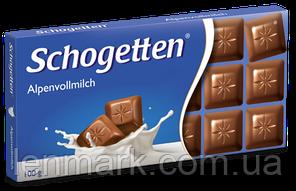 Шоколад Schogеtten «Alpine milk chocolate» Альпийское Молоко (молочний) 100 г