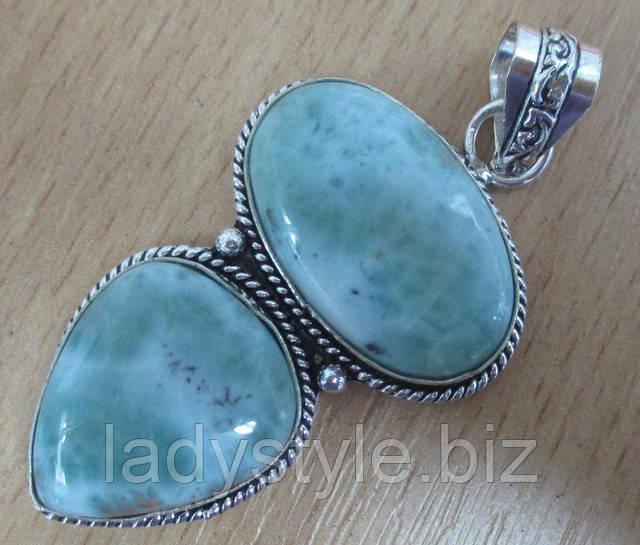 купить натуральный ларимар кольцо перстень серебряный студия леди стиль