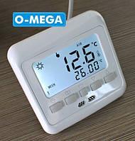Терморегулятор программируемый Floureon C08 H3 для теплого пола с датчиком температуры, фото 1