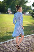Платье-рубашка синее, фото 1