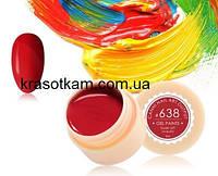 Гель-краска Canni 638 красная