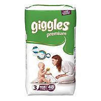 Giggles premium детские подгузники миди 48шт
