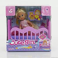 Кукла маленькая с кроваткой, в коробке (ОПТОМ) К 899-27