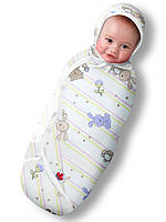 Пеленка-конверт фланель зайчата на липучке Deep Sleep Flanel 3 Classic, 6-9 мес, 7,5-9,1 кг; рост 67-72 см; - ART-0000136