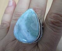 """Шикарный перстень с ларимаром """"Влада"""", размер 19,6 от студии  LadyStyle.Biz"""